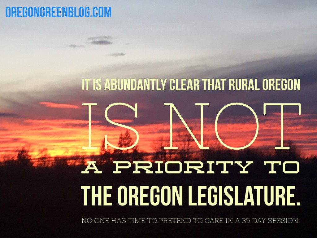 Rural Oregon Not a Priority